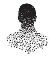 a man made of musical notes vector image vector image