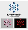 Abstract colorful logo circular design element vector image vector image