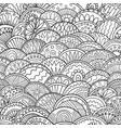 abstract scales doodle pattern adult coloring page vector image vector image