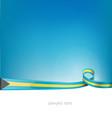 bahamas ribbon flag on blue sky vector image