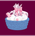 basket with cosmetics gifts transparent top and vector image vector image