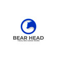 bear head with circle concept designs template vector image