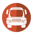 bus public transport city front view brown circle vector image vector image