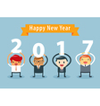 Businessman happy new year vector image vector image