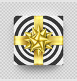 christmas gift box present golden ribbon bow vector image vector image