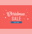 christmas sale banner background design template vector image vector image