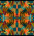 colored ethnic patchwork mosaic with african vector image