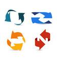 colorful arrows 3d arrow info symbols two vector image