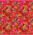 colorful seamless curved shape pattern background vector image vector image
