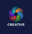 colorful spiral and swirl motion twisting circle vector image