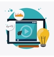 colorful webinar icon over white background vector image
