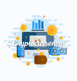 cryptocurrency abstract flat style modern vector image vector image