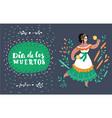 dancing woman card vector image vector image