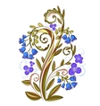 Decorative floral colored pattern with bluebells vector image