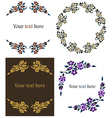 decorative floral frames set vector image