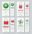 design of white vertical web banners to protect vector image vector image