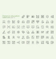 distance learning outline iconset vector image vector image