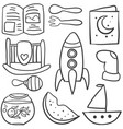 doodle bacollection element vector image vector image