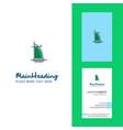 dubai hotel creative logo and business card vector image vector image