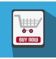 Flat Design With Tablet With Shopping Cart vector image