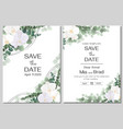 floral pattern for wedding invitations white vector image vector image