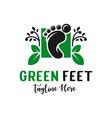 foot herbal medicine logo design vector image vector image