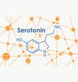 formula hormone serotonin vector image vector image