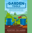 gardening tools and work equipment vector image vector image