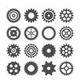 gear wheels set retro vintage cogwheels vector image