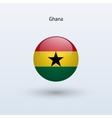 Ghana round flag vector image vector image