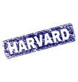 grunge harvard framed rounded rectangle stamp