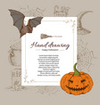 halloween letter template vector image