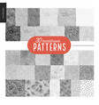 hand drawn black and white 30 patterns set vector image vector image