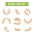 Hand hold protect icons vector image