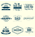 happy fathers day design collection vector image vector image