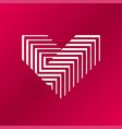 heart logo v letter logo design vector image vector image