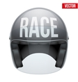 High quality racing motorcycle helmet vector image vector image