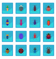insect bug icon blue app vector image