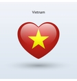 Love Vietnam symbol Heart flag icon vector image vector image
