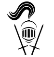 Medieval warrior symbol vector image