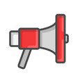 megaphone icon loudspeaker sound concept flat vector image vector image