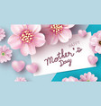 mothers day card design pink flowers vector image vector image