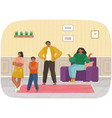 mutual relations parents and children mom and vector image vector image