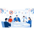 office teamwork business meeting discussion work vector image vector image