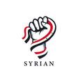 patriotic rising hand syria flag vector image vector image