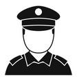 policeman cop icon simple style vector image vector image