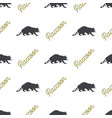 raccoon seamless with typography sign wild animal vector image