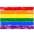 rainbow flag lgbt colorful hand-drawn banner vector image vector image