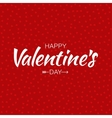 Red Happy Valentines Day Card hearts background vector image vector image