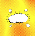 Retro style pop-art explosion steam cloud vector image